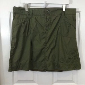 REI | Embroidered Green Skirt